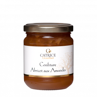 Apricot jam with almonds