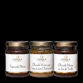 Three jars of Tapenade