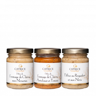 Three jars of cheese spreads