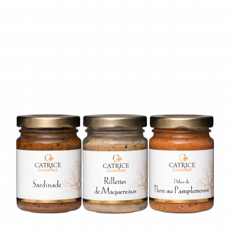 Three jars of fish spreads