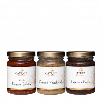 Three jars of Provencal dips