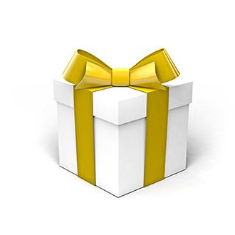 white gift box golden yellow 450w 316917581
