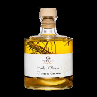 Lemon and rosemary olive oil - stackable bottle