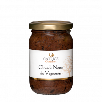Black tapenade with wine